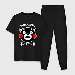 Пижама хлопковая мужская Kumamon цвета черный — фото 1