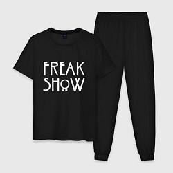 Пижама хлопковая мужская FREAK SHOW цвета черный — фото 1