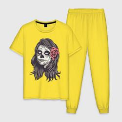 Пижама хлопковая мужская Mexican Girl цвета желтый — фото 1