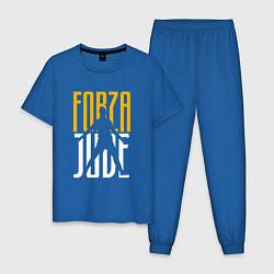 Пижама хлопковая мужская Forza Juve цвета синий — фото 1