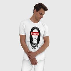 Пижама хлопковая мужская Buzova Supreme цвета белый — фото 2