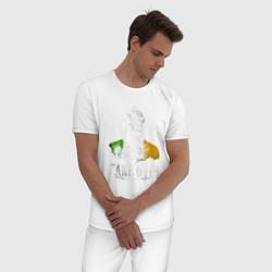 Пижама хлопковая мужская McGregor: Take Over цвета белый — фото 2