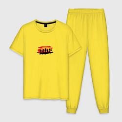 Пижама хлопковая мужская Red Dead Redemption 2 T-Shirt цвета желтый — фото 1