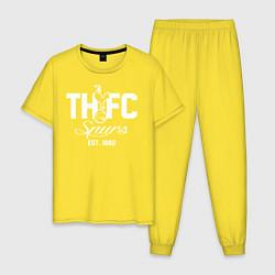 Пижама хлопковая мужская THFC Est 1882 цвета желтый — фото 1