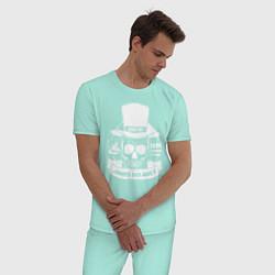 Пижама хлопковая мужская Taboo: James Delaney цвета мятный — фото 2