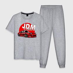 Пижама хлопковая мужская JDM Culture цвета меланж — фото 1
