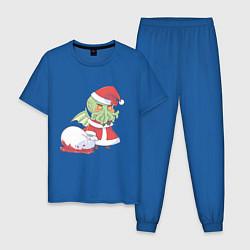 Пижама хлопковая мужская Ктулху цвета синий — фото 1