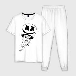 Пижама хлопковая мужская Marshmello King цвета белый — фото 1