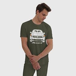 Пижама хлопковая мужская Honda Accord 8 цвета меланж-хаки — фото 2