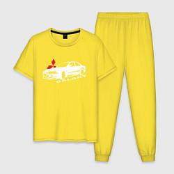 Пижама хлопковая мужская Mitsubishi Galant цвета желтый — фото 1