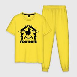 Пижама хлопковая мужская Fortnite Team цвета желтый — фото 1