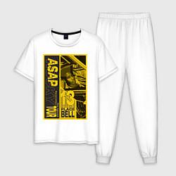 Пижама хлопковая мужская ASAP Rocky: Place Bell цвета белый — фото 1