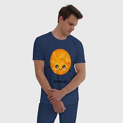 Пижама хлопковая мужская Драник цвета тёмно-синий — фото 2