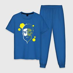 Пижама хлопковая мужская Apex Legends: Mirage Face цвета синий — фото 1