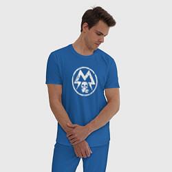 Пижама хлопковая мужская Metro: Sparta Warriors цвета синий — фото 2