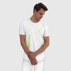 Пижама хлопковая мужская Cyberpunk 2077: V-Style цвета белый — фото 2