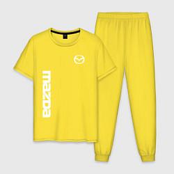 Пижама хлопковая мужская MAZDA цвета желтый — фото 1