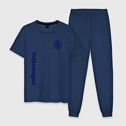 Пижама хлопковая мужская VOLKSWAGEN цвета тёмно-синий — фото 1