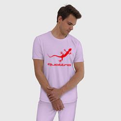 Пижама хлопковая мужская AUDI цвета лаванда — фото 2