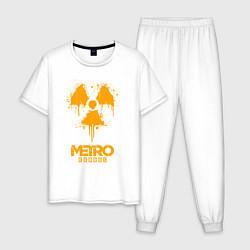 Пижама хлопковая мужская METRO EXODUS цвета белый — фото 1
