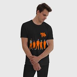 Пижама хлопковая мужская Misfits Orange цвета черный — фото 2