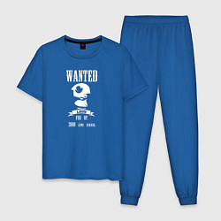 Пижама хлопковая мужская Leon Wanted цвета синий — фото 1