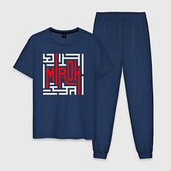 Пижама хлопковая мужская Stray kids miroh цвета тёмно-синий — фото 1