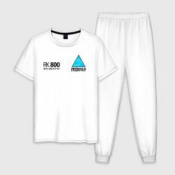 Пижама хлопковая мужская RK800 CONNOR цвета белый — фото 1