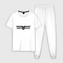 Пижама хлопковая мужская Rammstein цвета белый — фото 1