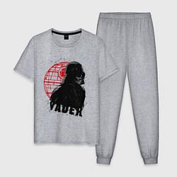 Пижама хлопковая мужская Вейдер цвета меланж — фото 1