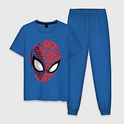 Пижама хлопковая мужская Spider-Man цвета синий — фото 1