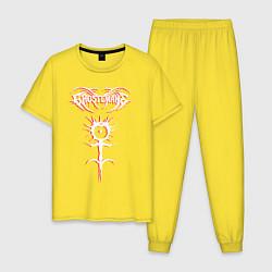 Пижама хлопковая мужская GHOSTEMANE RED SHADOW цвета желтый — фото 1