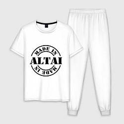 Пижама хлопковая мужская Made in Altai цвета белый — фото 1