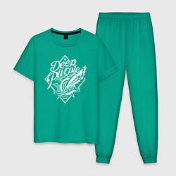Пижама хлопковая мужская Deep Purple: Machine Head цвета зеленый — фото 1