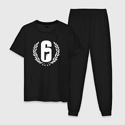 Пижама хлопковая мужская R6S PRO LEAGUE цвета черный — фото 1