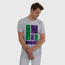 Пижама хлопковая мужская Joker Emotions цвета меланж — фото 2