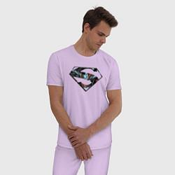 Пижама хлопковая мужская Superman цвета лаванда — фото 2