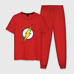 Пижама хлопковая мужская Flash цвета красный — фото 1