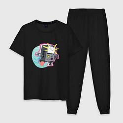 Пижама хлопковая мужская БиМО цвета черный — фото 1