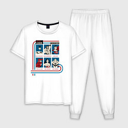 Пижама хлопковая мужская Justice League Class of Heroes цвета белый — фото 1