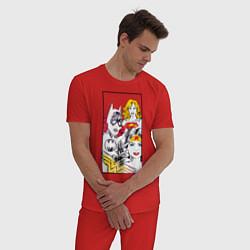 Пижама хлопковая мужская Justice League superheroines цвета красный — фото 2