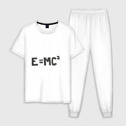 Пижама хлопковая мужская Теория относительности цвета белый — фото 1