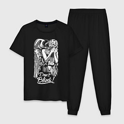Пижама хлопковая мужская Don't Blink, Доктор Кто цвета черный — фото 1