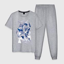 Пижама хлопковая мужская Частицы цвета меланж — фото 1