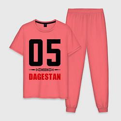 Пижама хлопковая мужская 05 Dagestan цвета коралловый — фото 1
