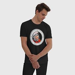 Пижама хлопковая мужская Гагарин ?? 1 цвета черный — фото 2