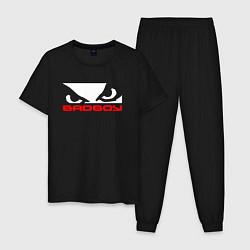 Пижама хлопковая мужская BADBOY цвета черный — фото 1