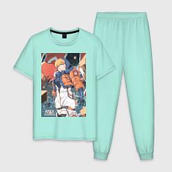Пижама хлопковая мужская Apex Legends Wattson цвета мятный — фото 1