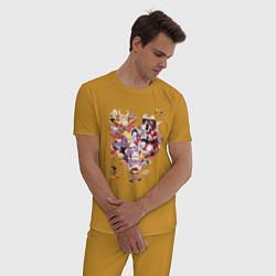 Пижама хлопковая мужская UNDERTALE цвета горчичный — фото 2