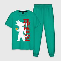 Пижама хлопковая мужская Dragon Ball Goku цвета зеленый — фото 1